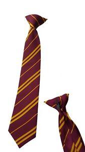 Children's Clip On Harry Potter Tie Hogwart Book Week Gryffindor Wizard 34cm