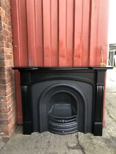 Refurbished Cast Iron Fireplace + Wooden Fire Surround 🚚 Delivery Free Or £35