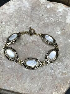 Barse Thrive Toggle Bracelet- Mother Of Pearl- Bronze- New With Tags