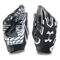 Under Armour F5 Receiver Football Glove BLACK WHITE 1271185 001 Youth Size SMALL