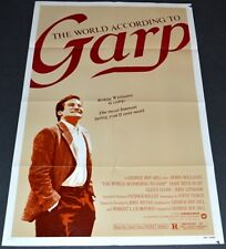 THE WORLD ACCORDING TO GARP 1982 ORIGINAL MOVIE POSTER! ROBIN WILLIAMS COMEDY!