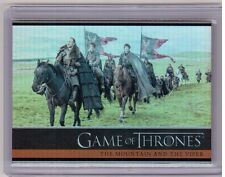 THE MOUNTAIN AND THE VIPER 2015 Game of Thrones Season 4 #22 Rainbow Foil Card