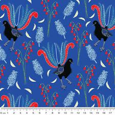 Outback Beauty: Lavish Lyrebird Blue by Amanda Joy - 50 x 110 cms - 100% Cotton