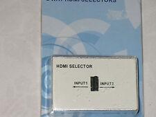 HDMI 2way Selector  ( 2xsocket input to socket output)