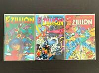 Zillion #1-3, Eternity Comics 1993, complete run, Manga B&W
