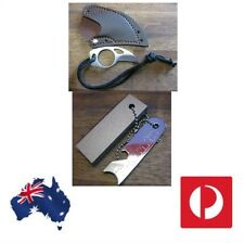 Magnesium block & Flint Fire Starter & Karambit Claw Striker & Sheath