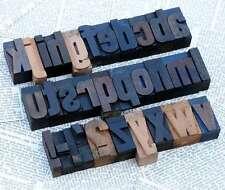 a-z Holzbuchstaben 45mm Plakatlettern Buchstaben Stoffdruck Buchstabenstempel