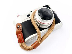 Brown Nylon Rope Camera Hand Wrist Strap Lanyard DSLR, Bridge, Compact UK STOCK