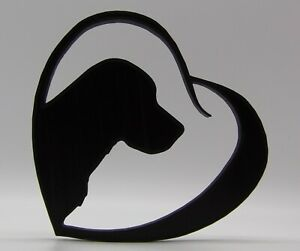Labrador Dog in Heart Shape Home Ornament - NEW SIZES