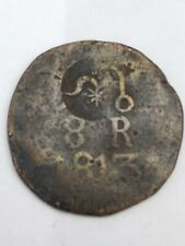 Mexico independence coin 8 reales SUD Morelos Resello 1813 copper