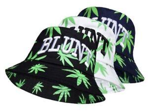 Unisex New Weed Ganja Green Leaf Blunt Rasta Summer Bucket Hat Cap Uk Style
