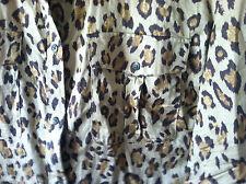 Ralph Lauren Womens Safari 100% Cotton Leopard Shirt Blouse button-up XXL 2XL ec