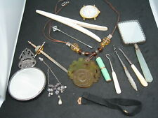 INTERESTING MIXED LOT OF BONE - MOTHER OF PEARL ETC ETC