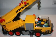 Playmobil construction crane with accessories and people/figures