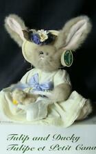 B21 Tulip Bunny and Ducky The Bearington Collection Original box & tags