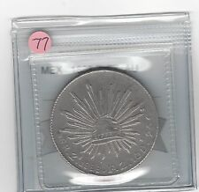 **1888 ZsFZ**Mexico, Silver 8 Reales, Coin Mart Graded **AU** #77
