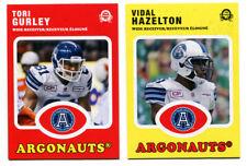 2016 OPC CFL Toronto Argonauts Lot of 2 Cards Tori Gurley and Vidal Hazelton
