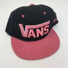 Vintage VANS Black & Pink Snapback Baseball Womens Cap