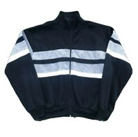 Vintage 90's Color Block Striped Track Jacket Soft Men's Medium Full Zip