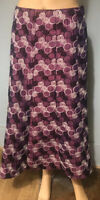 Viyella Womens Flared Occasions Skirt Lined Lilac Black White Uk Size 16 Immac