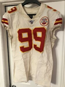 2019 Khalen Saunders Kansas City Chief Game Used Jersey! Multiple Games!