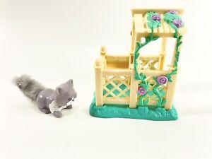 Vtg 1995 Littlest Pet Shop Tutu Fun Kitty Dressed N Ready Kenner Cat Gazebo