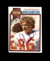 Jim Obradovich Hand Signed 1979 Topps Tampa Bay Buccaneers Autograph