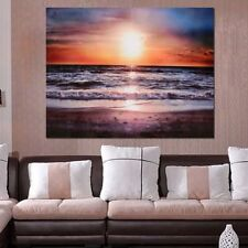 Canvas Prints Sundown beach Modern Abstract Wall Decor Art Oil Painting No Frame