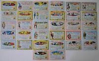 Nutty Awards Postcards Vintage Card Set 32 (Postcard Size) Cards Topps 1964
