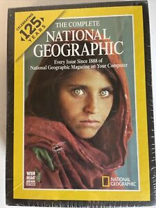 The Complete National Geographic magazine 7 dvd- rom software set. 125 years