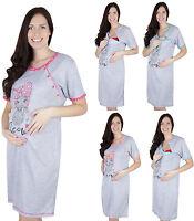 Mija - 2 in1 Maternity & nursing cotton nightdress nightshirt nighty size 2060