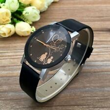 Lover's Students Couple Fashion Leather Band Analog Quartz Wrist Watch Watches a