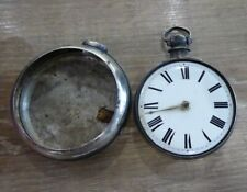 Pair Case Pocket Watch C1840. Working Fishguard D.U Nicholas Silver Fusee Verge