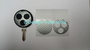 Carbon Silber Folie Dekor Schlüssel  Smart Cabrio AMG fortwo 450 Brabus Coupe A