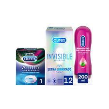 Durex invisible extra lubricado 12 UDS