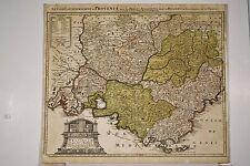 CARTE XVIII° PROVENCE Guillaume de l'ISLE Marseille Isles d'Hyères Lérins 1740