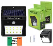 20 LED Solar Sensor Flood Lights Wall Outdoor Garden Path Fence Lamp Security