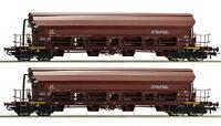 ROCO 67179 Set: 2-tlg.Schwenkdachwagen DR Gleichstrom DC Spur H0 NEU