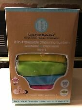 Charlie Banana 2in1 Reusable Diapering System-Washable or Disposable Inserts