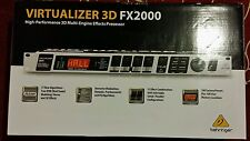 BEHRINGER VIRTUALIZER 3D FX2000,New! High- Performance 3D Multi-Engine Effects P