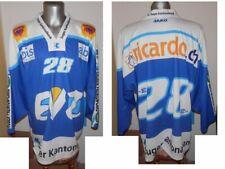 EVZ EV ZUG #28 Swiss Ice Hockey Shirt Eishockey JERSEY MAGLIA size XL