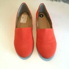 J Litvack Flats size 9 St Lucia Slip-On Orange Fabric 9B Studded Back