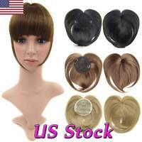 New Women Ladies Silky Clip-On Hair Topper Short Straight Hair Wig Full Wigs Cap
