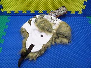 BOM-300 Soft Faux Fur Trapper Winter Hat w/Earflaps Size A R3703/RT AP Snow Camo