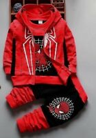 Customs Clothing Sets 3 Pcs Children Spider Man Christmas Gift Kids Children Fun