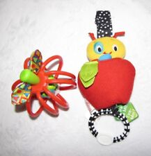 BRIGHTS STARTS LEARNING CURVE BABY TOYS APPLE  WORM CHIME RATTLE PULL WIGGLE