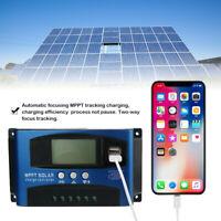 Aufladen Regler Laderegler MPPT Solar Panel Regulator 40A USB Solarregler LCD
