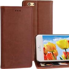 Estilo Libro Carcasa para Apple Iphone 6 Plus Marrón Compartimento Tarjetas
