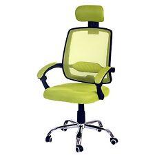 Fauteuil de bureau Arendal, chaise rotative, appui-tête, tissu ~ vert