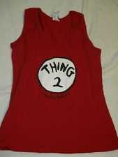 New Reef Cancun Tank Top Shirt Juniors Size L Thing 2 Dr Seuss NWT Red Mexico